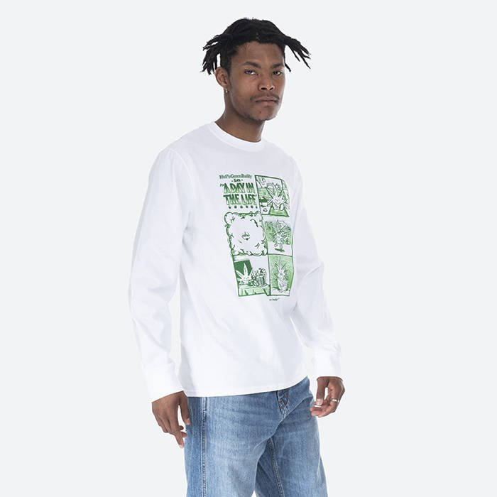 HUF Day In The Life Longsleeve TS01604 WHITE