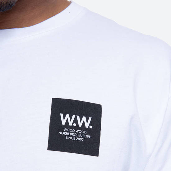 Wood Wood Box T-shirt 11935724-2334 Bright White