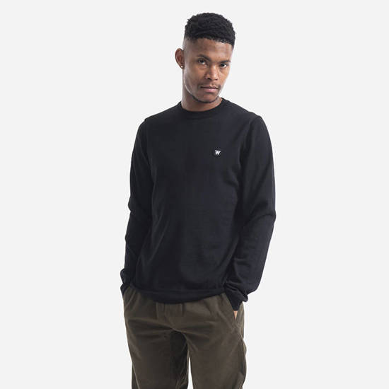 Wood Wood Kip Crewneck 10005507-4142 BLACK